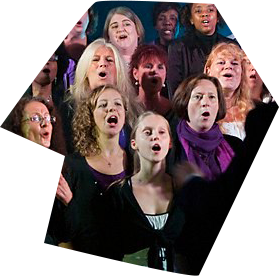 Ladies singing Gospel Music in a church